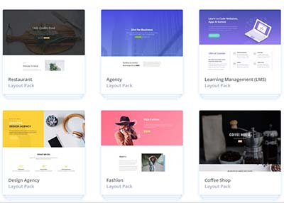 An image of Divi Premade Website Layouts